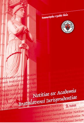 , Notitiae ex Academia Bratislavensi Iurisprudentiae