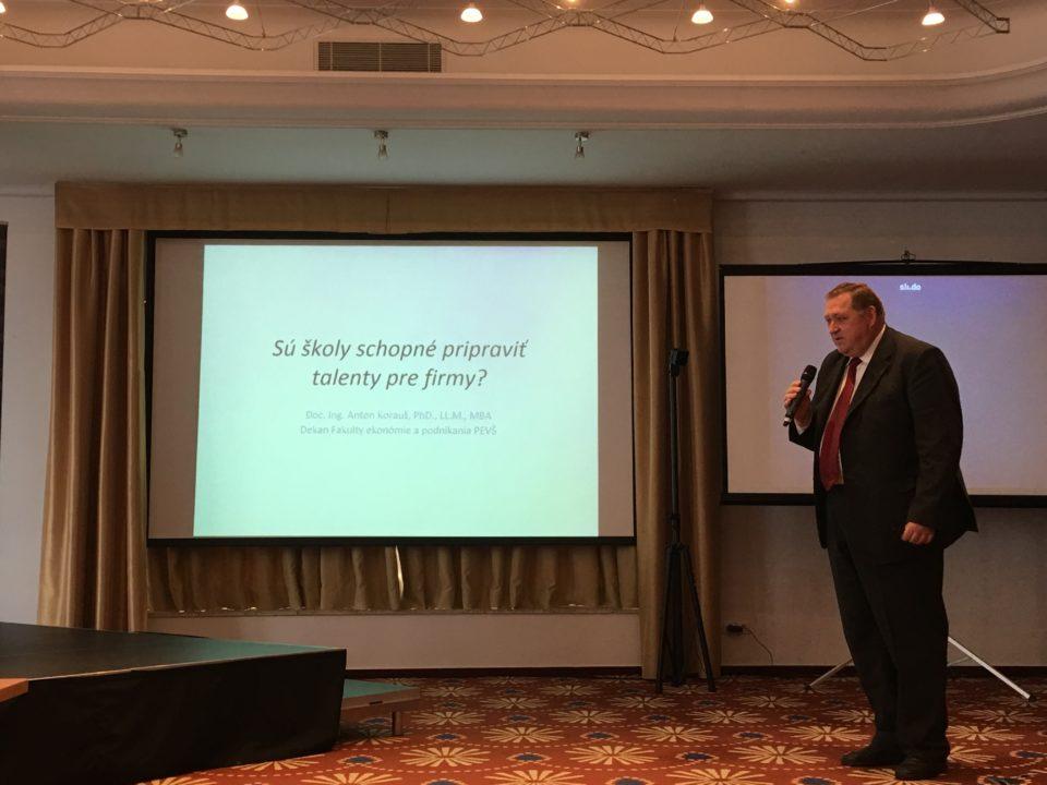 konferencia_PEVŠ_fakulta ekonómie a podnikania_docent_korauš