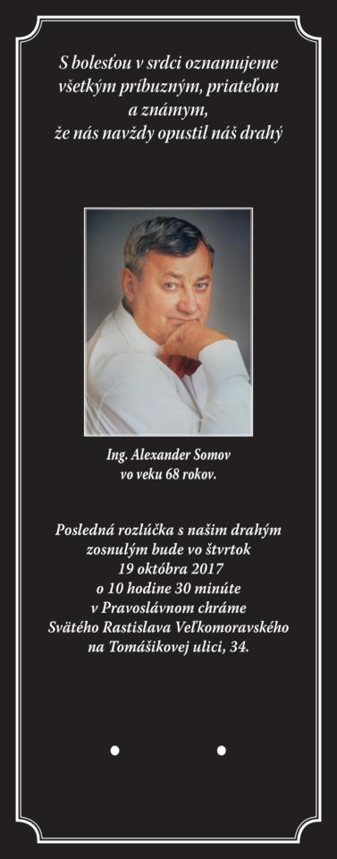 Smútočné parté Ing. Alexander Somov