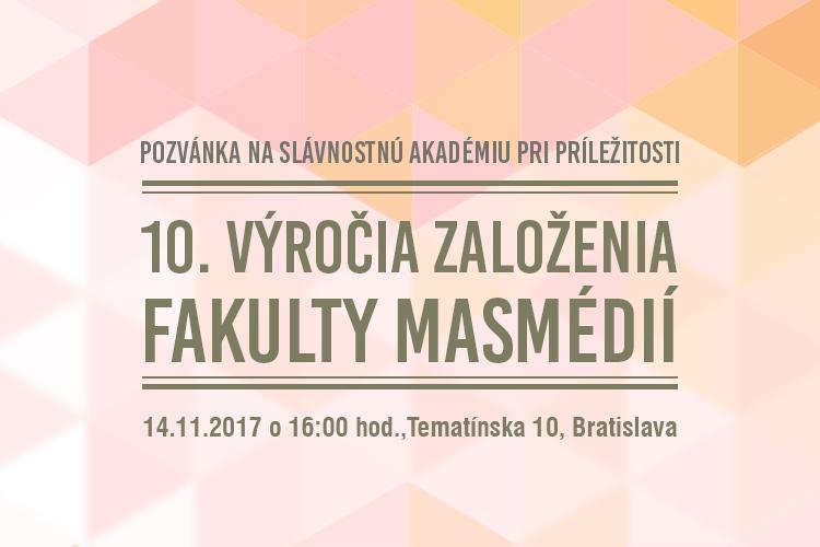 Osláv 10.výročia Fakulty masmédií PEVŠ sa zúčastní aj prezident Andrej Kiska