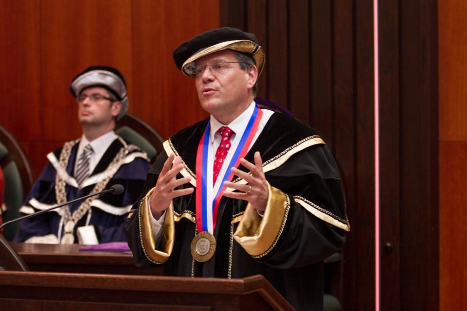 Prejav dr.h.c. judr. Maroša Šefčoviča