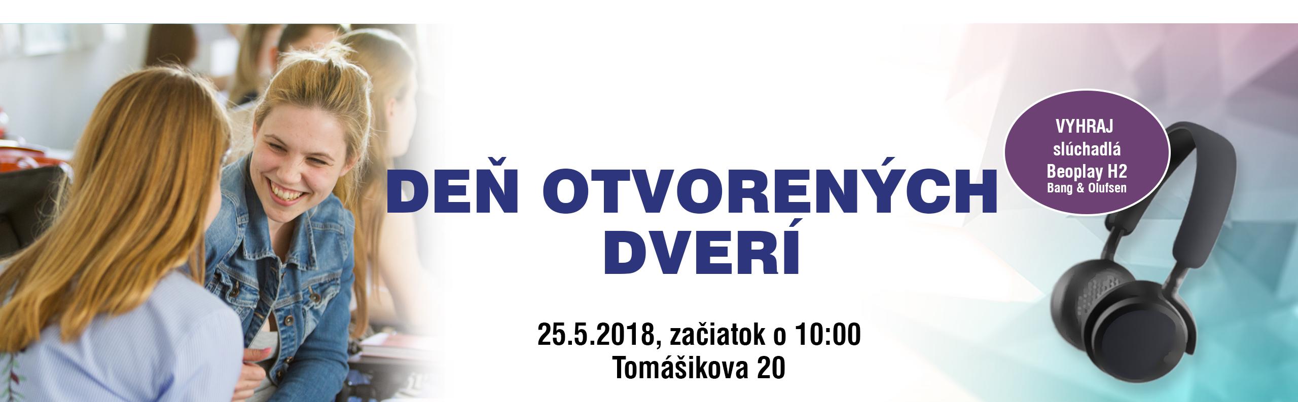 Príď na Deň otvorených dverí 25. mája o 10:00!