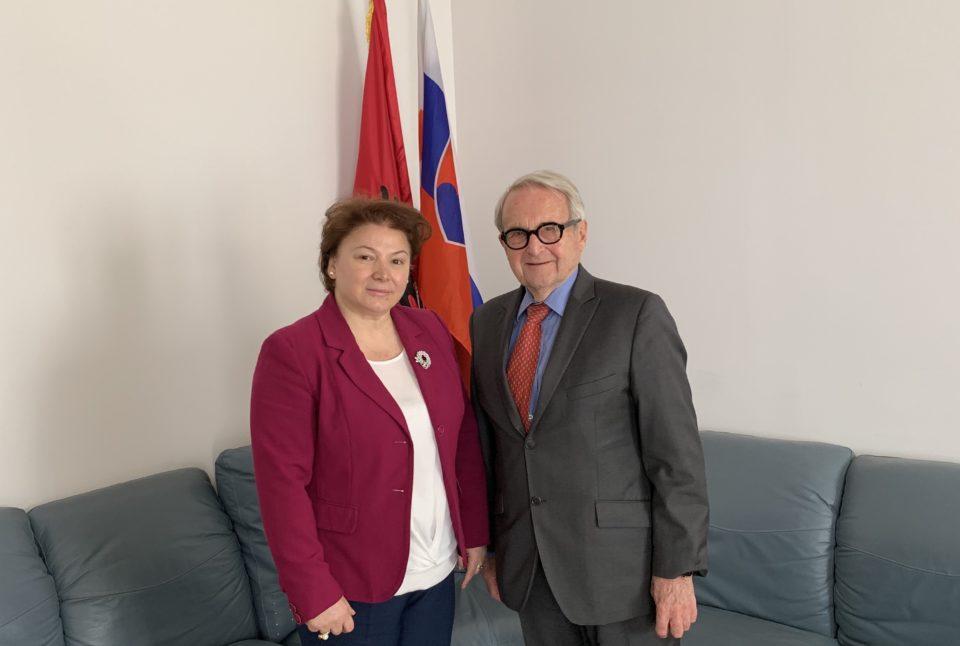 Stretnutie na veľvyslanectve Albánskej republiky v Bratislave