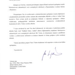 List ministra Lajcaka