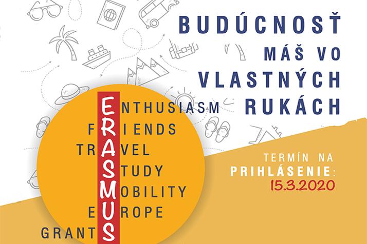 Prebieha prihlasovanie do programu Erasmus+ na ak.r. 2020/2021
