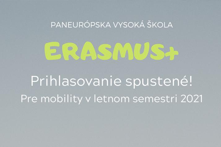 Prihlasovanie na Erasmus 2020/2021 je spustené!