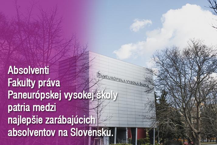 Vynikajúci úspech Fakulty práva Paneurópskej vysokej školy