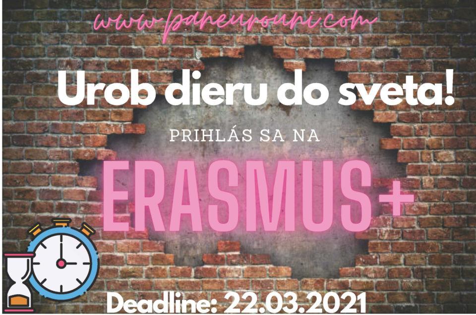 Prihlasovanie na Erasmus 2021/2022 je spustené!