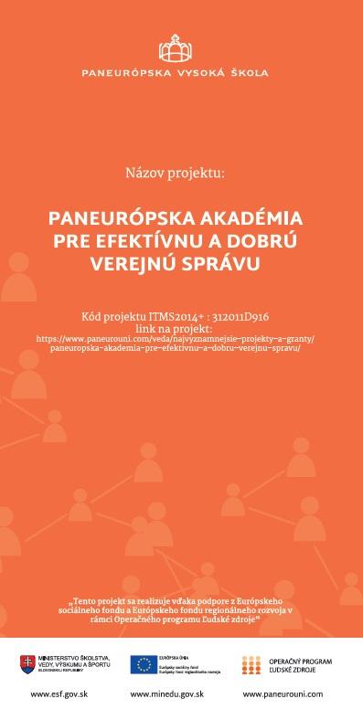 , Paneurópska akadémia pre efektívnu a dobrú verejnú správu