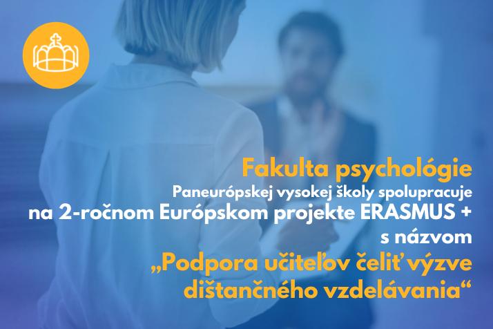 """Európsky projekt ERASMUS + s názvom """"Podpora učiteľov čeliť výzve dištančného vzdelávania"""""""